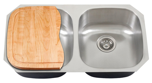 Wooden Cutting Board For Ticor S205 Undermount Kitchen Sink